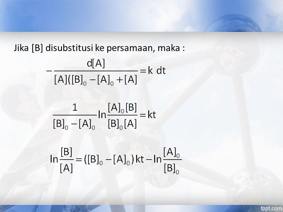 Jika [B] disubstitusi ke persamaan, maka :